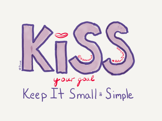 Picture of KISS keep your goal small and simple