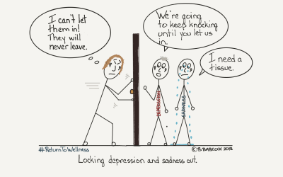 Depression and serious illness are not a good combination, aim for positivity