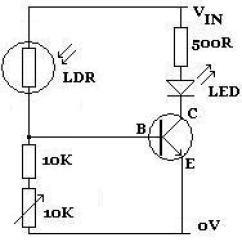 Resistor Circuit Diagram Renault Laguna Fuse Box Light Dependent Reuk Co Uk Ldr Darkness Activated