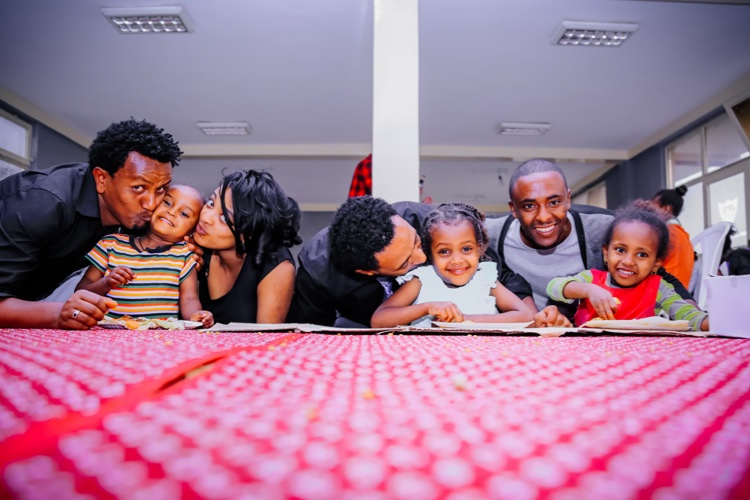 Happy family and kids