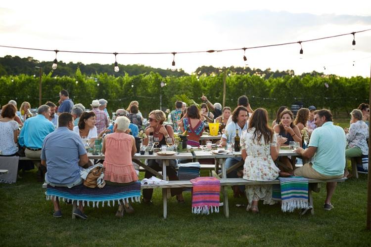 family reunion outdoor picnic