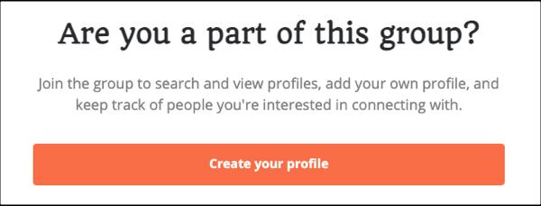 Creat A Profile