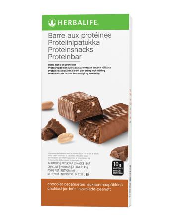 Barres aux protéines chocolat cacahuètes Herbalife