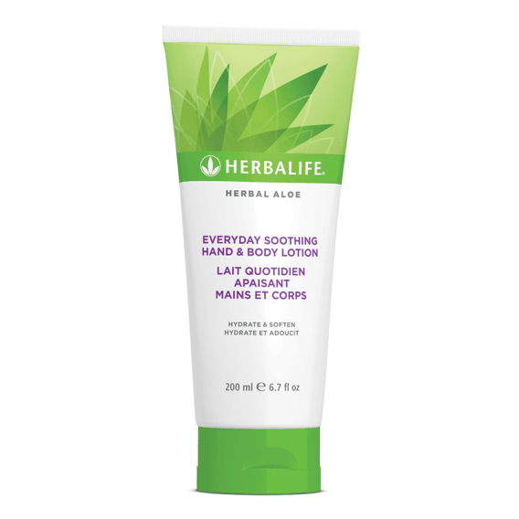 Lait Apaisant Herbal Aloe mains et corps Herbalife Ile Réunion