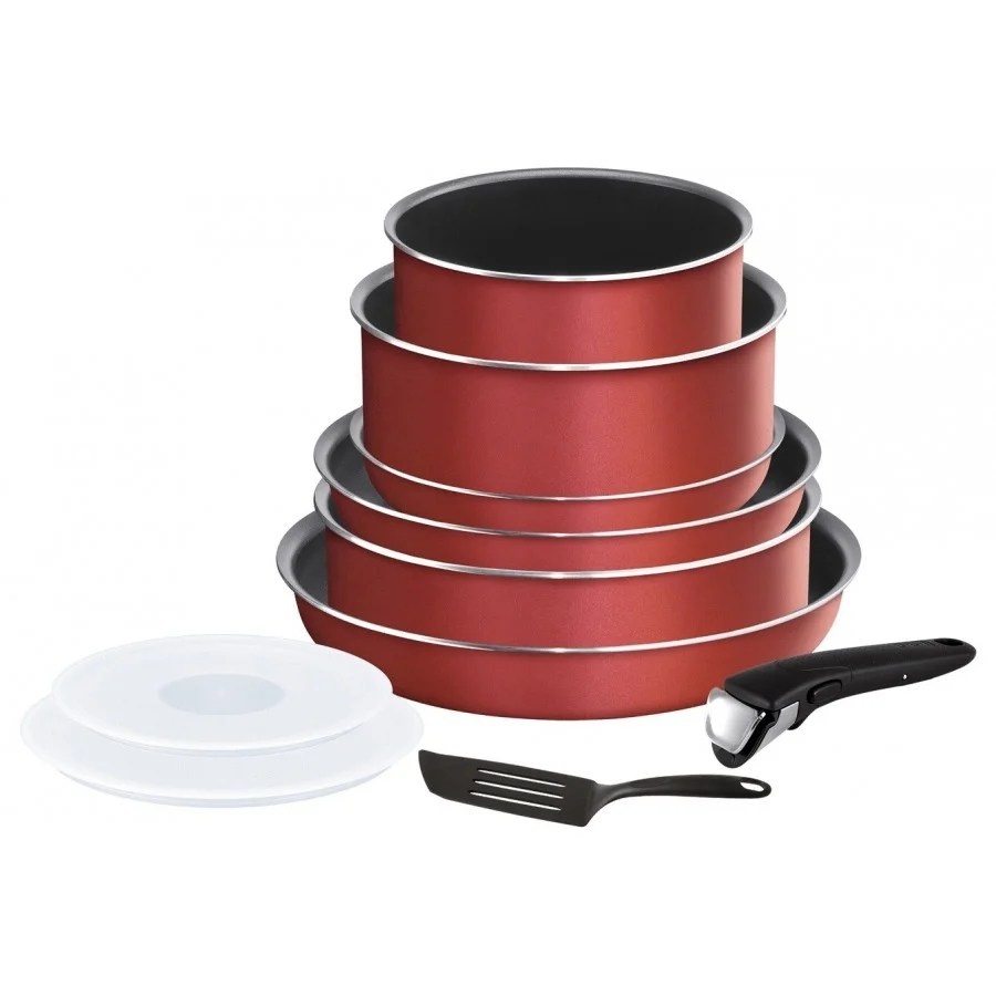 tefal ingenio essential rouge surprise set de 10 pieces l2369002