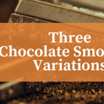 three chocolate smoothie variations