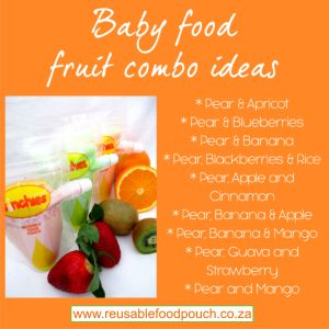 baby food combo puree with pear