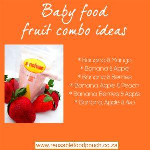baby food combo puree with banana