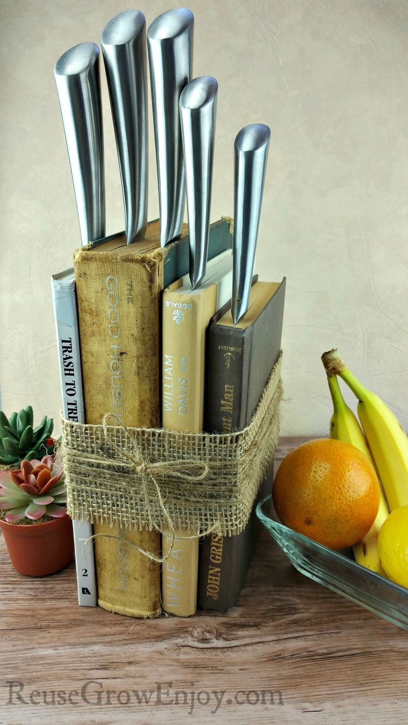 DIY Knife Holder Made From Upcycled Books  Reuse Grow Enjoy