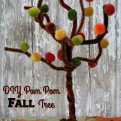 Kitchen Scissors Ezr Degreaser Fall Craft - Easy Pom Tree Reuse Grow Enjoy
