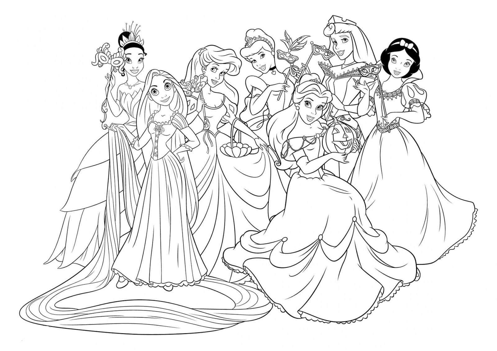 Coloriage A Imprimer Princesse Disney - ma-eyes