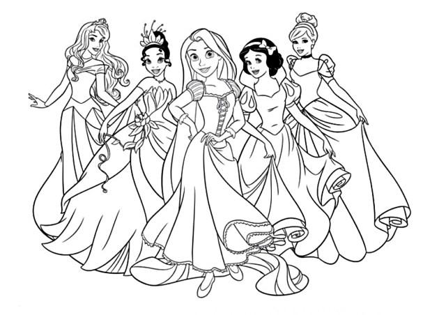 Coloriage Princesse Gratuit  26 dessins à imprimer en 26 clic