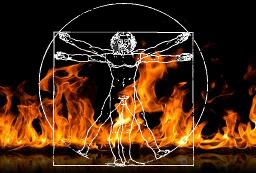 Le burn-out qui brûle l'être humain depuis l'intérieur.