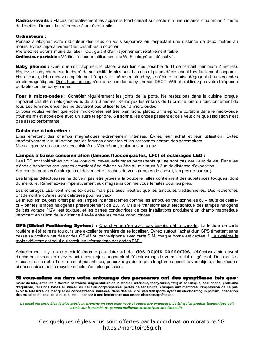 Règles d'utilisation page 2