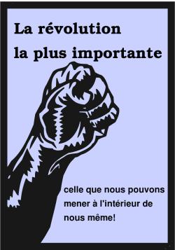 S'opposer? La révolution la plus importante, celle que nous pouvons mener à l'intérieur de nous même!