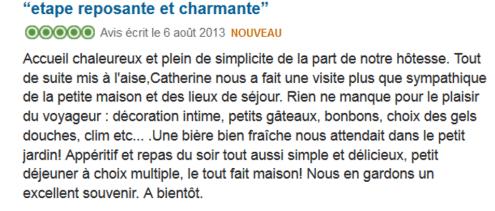 """Témoignage d'un client de Catherine de """"l'Ombre Bleue"""" qui souligne de nombreux petits """"plus"""""""