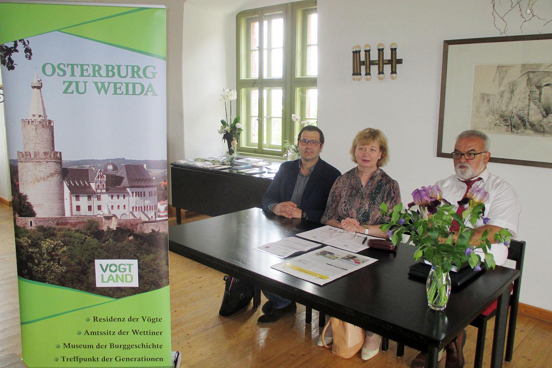 Osterburg Weida: Vereinbarung zur Nutzung der Dachmarke Vogtland