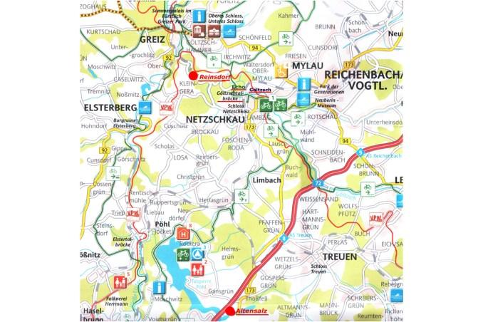 Karte von Reinsdorf mit Umgebung