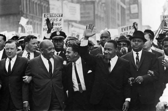 "(11886) Civil Rights, Marches, ""Walk to Freedom"", Detroit, 1963"