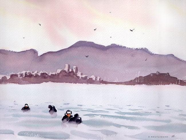 remparts antibes plongeurs
