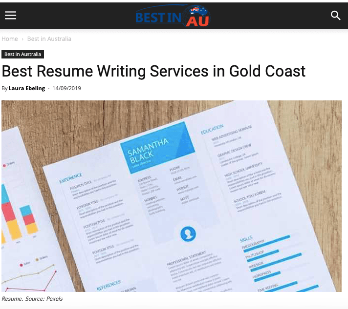 Best Professional Resume Writing Services Gold Coast