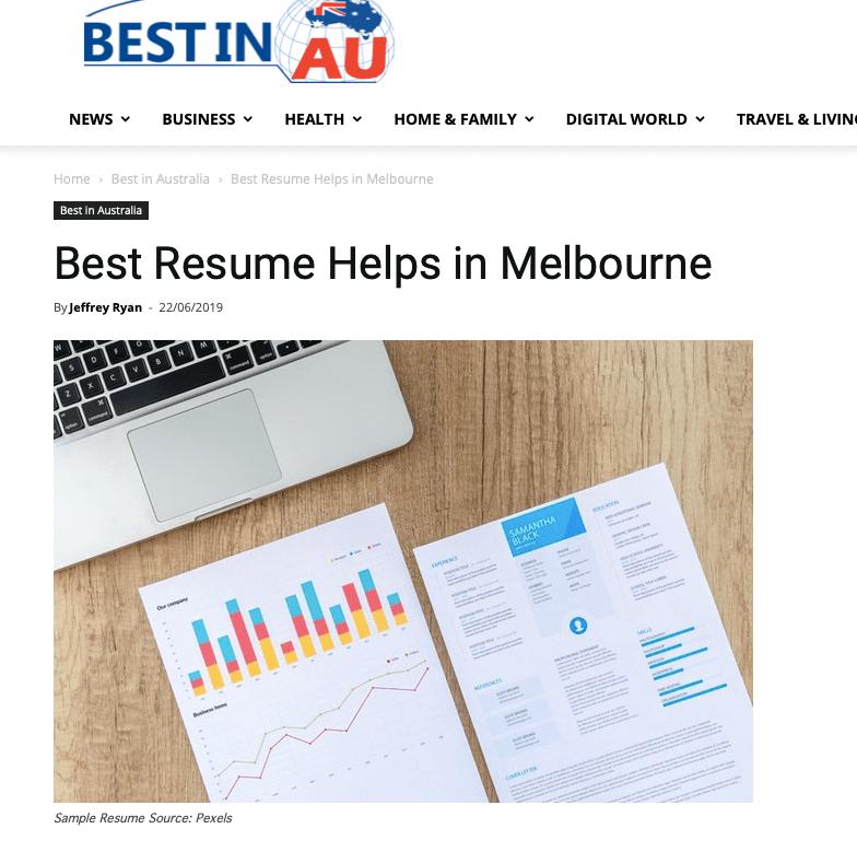 Best professional resume writing services australia