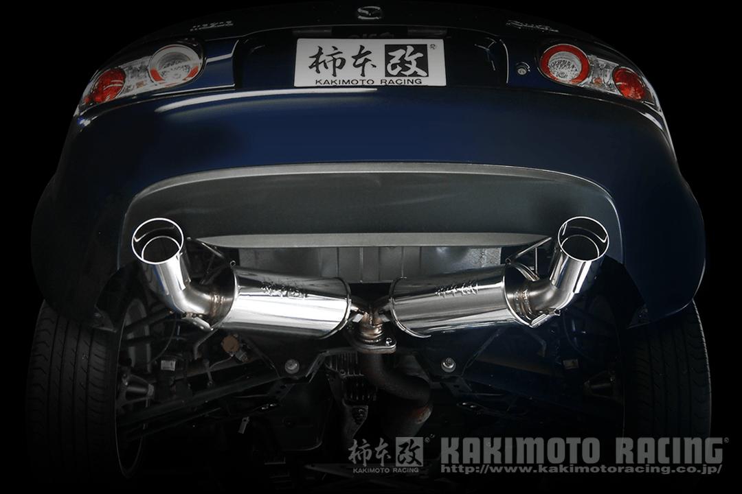 kakimoto r exhaust for mazda miata mx 5 nc 06 15 rev9