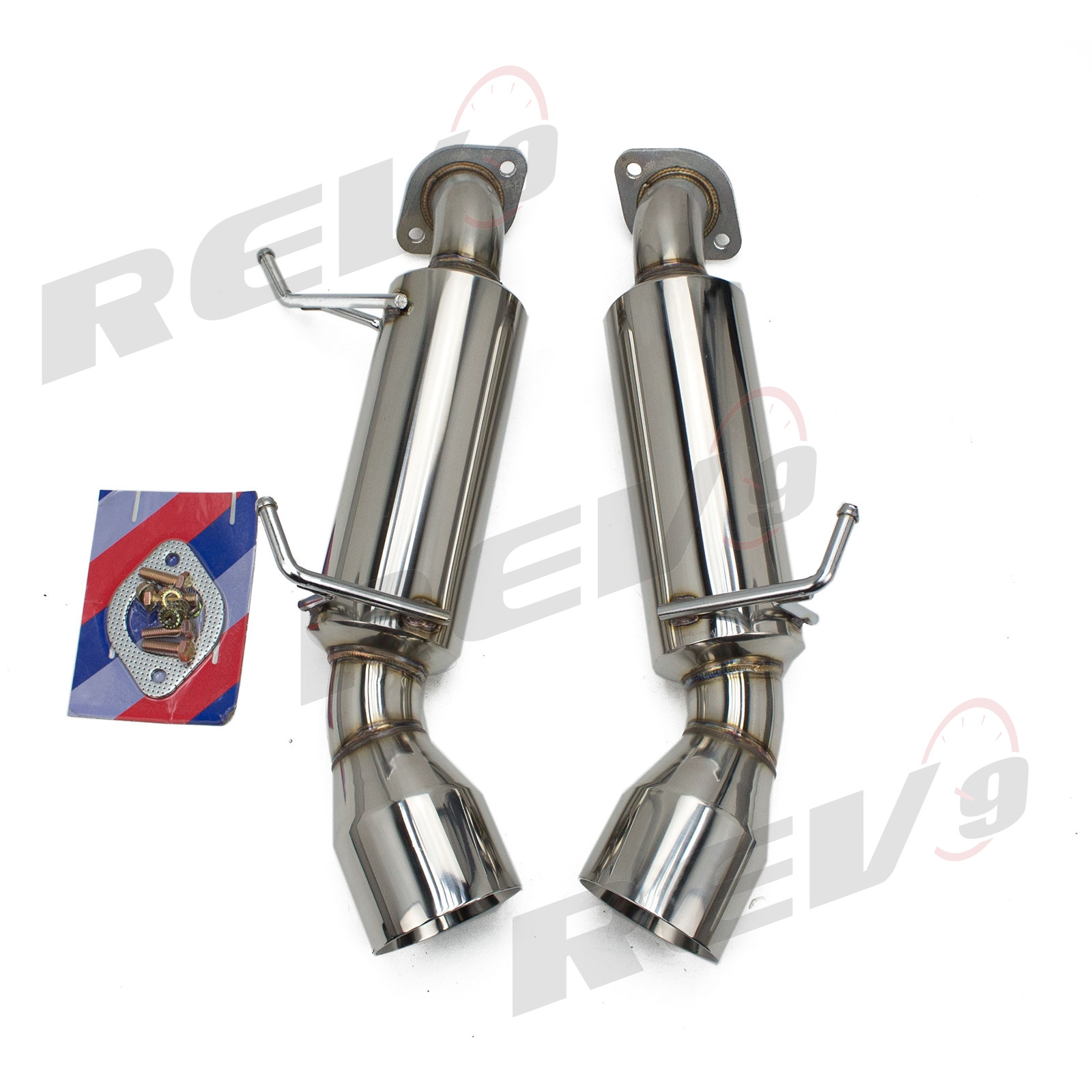 infiniti q60 v36 2014 16 flowmaxx stainless axle back exhaust system 60mm pipe