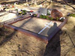 Полированый бетон 2 места красный