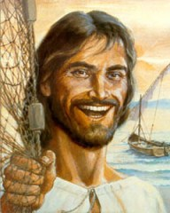This picture of a laughing Jesus may seem shocking to us who think Jesus was serious all the time!