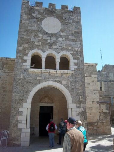 This church, the Sanctuary of Bethphage in Jerusalem, commemorates Jesus' triumphal entry into Jerusalem