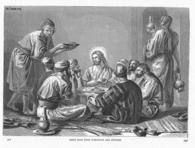 """Jesus Eats with Publicans and Sinners,"" by Alexandre Bida"