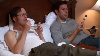 Dwight rescues Jim from temptation.