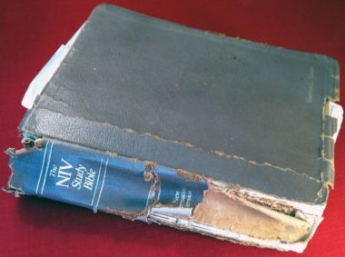 I don't have my first NIV Study Bible anymore, but it looked something like this.