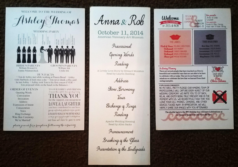wedding ceremony programs archives