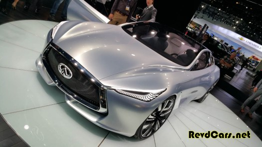 The Infiniti Q80 concept was curvaceous