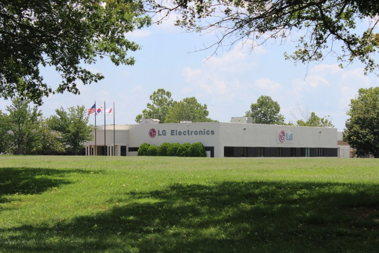 The LG Electronics Inc. facility in Huntsville, Alabama, gets temp workers from Automation Personnel Services. Former Automation employees say LG wanted Latino workers specifically.