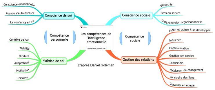 Les compétences de l'intelligence émotionnelle d'après Goleman