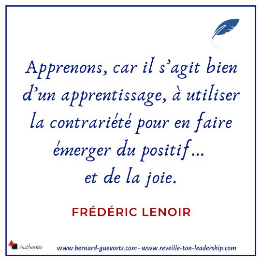 Citation de Frédéric Lenoir sur l'apprentissage de la joie