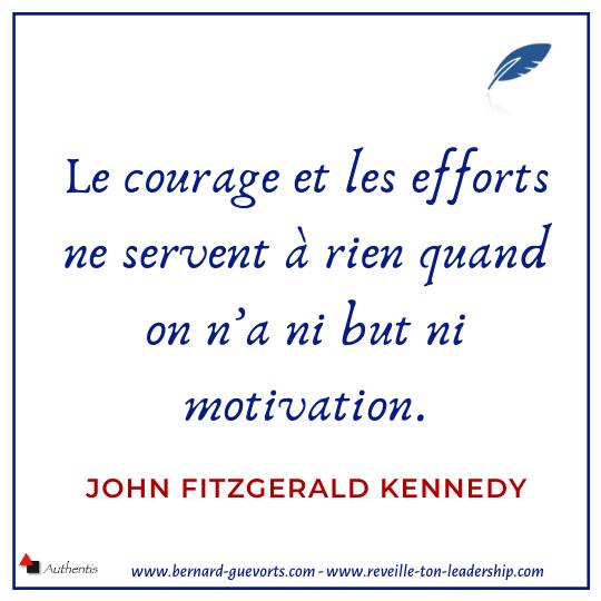Citation de JFK sur le courage