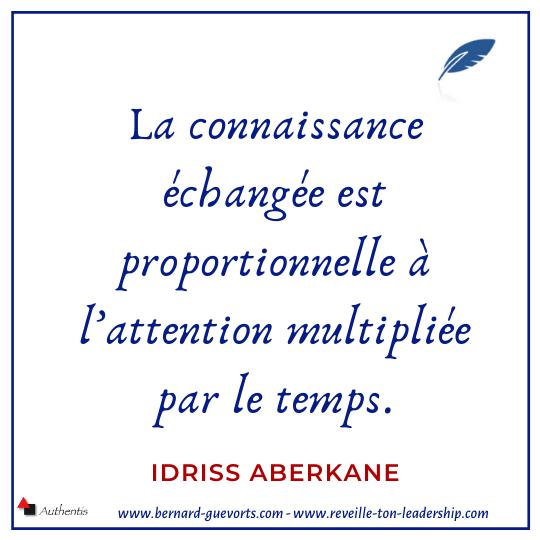 Citation d'Idriss Aberkane sur l'attention et le savoir