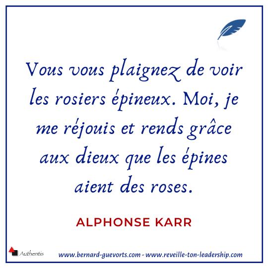 Citation d'Alphonse Karr sur les roses