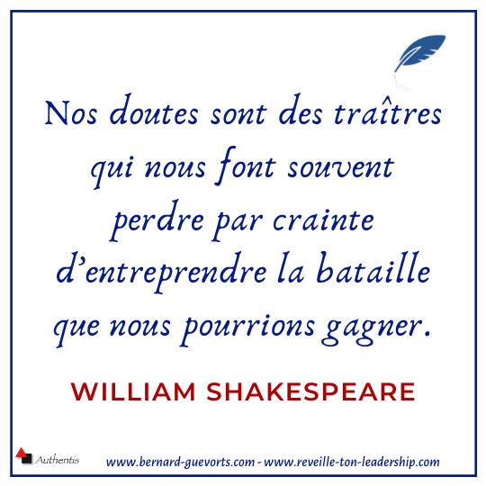 Citation de Shakespeare sur doutes