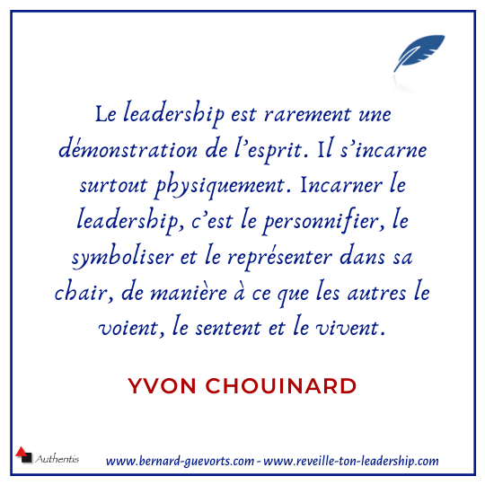 Citation sur le leadership Chouinard