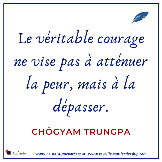 Citation Trungpa sur courage