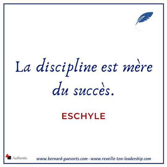 Citation d'Eschyle sur la discipline