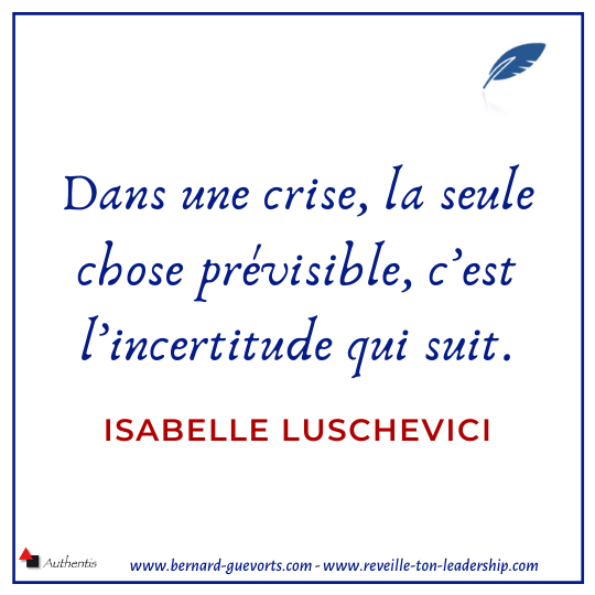 Citation sur la crise et l'incertitude
