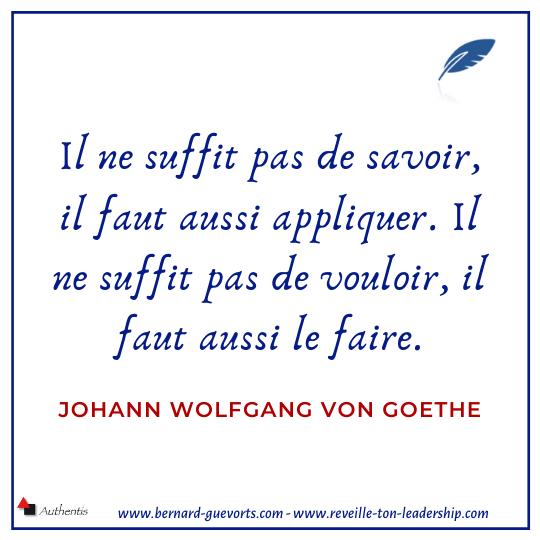 Citation de Goethe sur le savoir