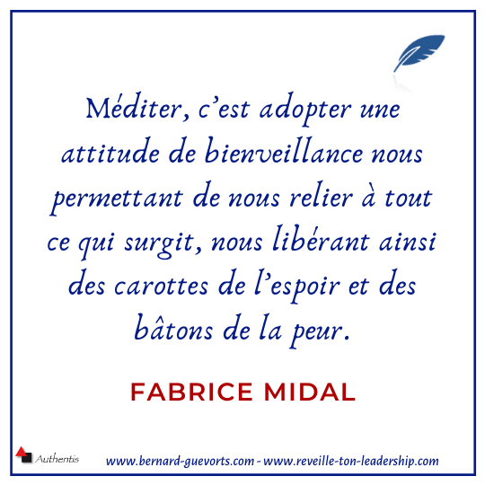 Citation de F Midal sur la méditation