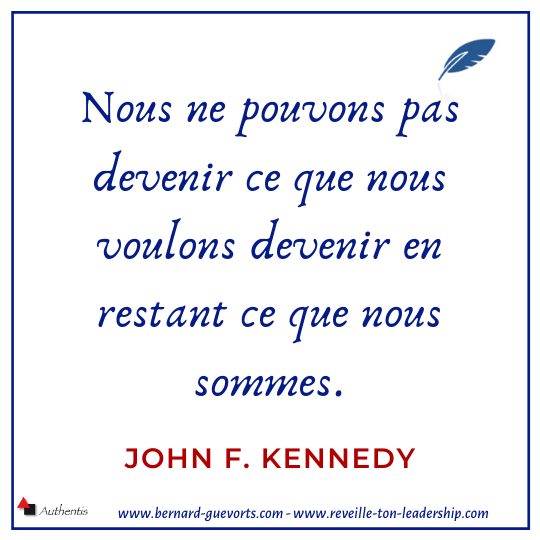 Citation de J F Kennedy sur devenir soi